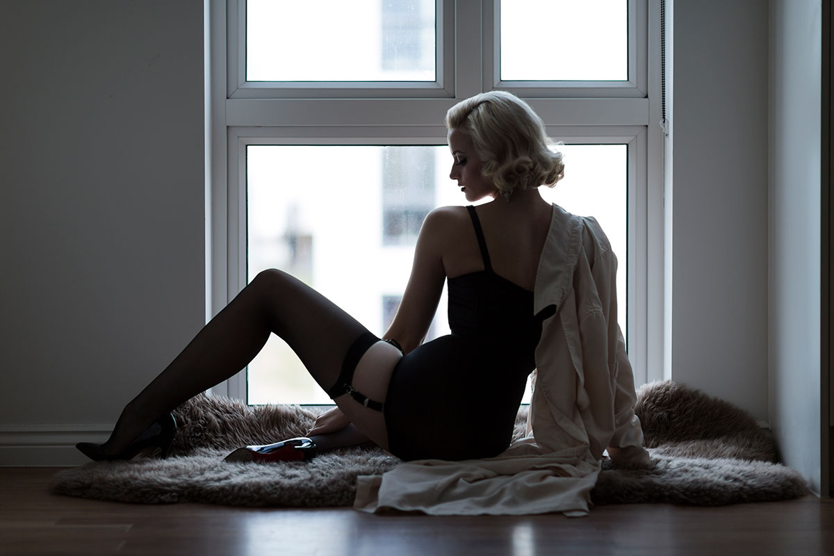 glamour photography silhouette