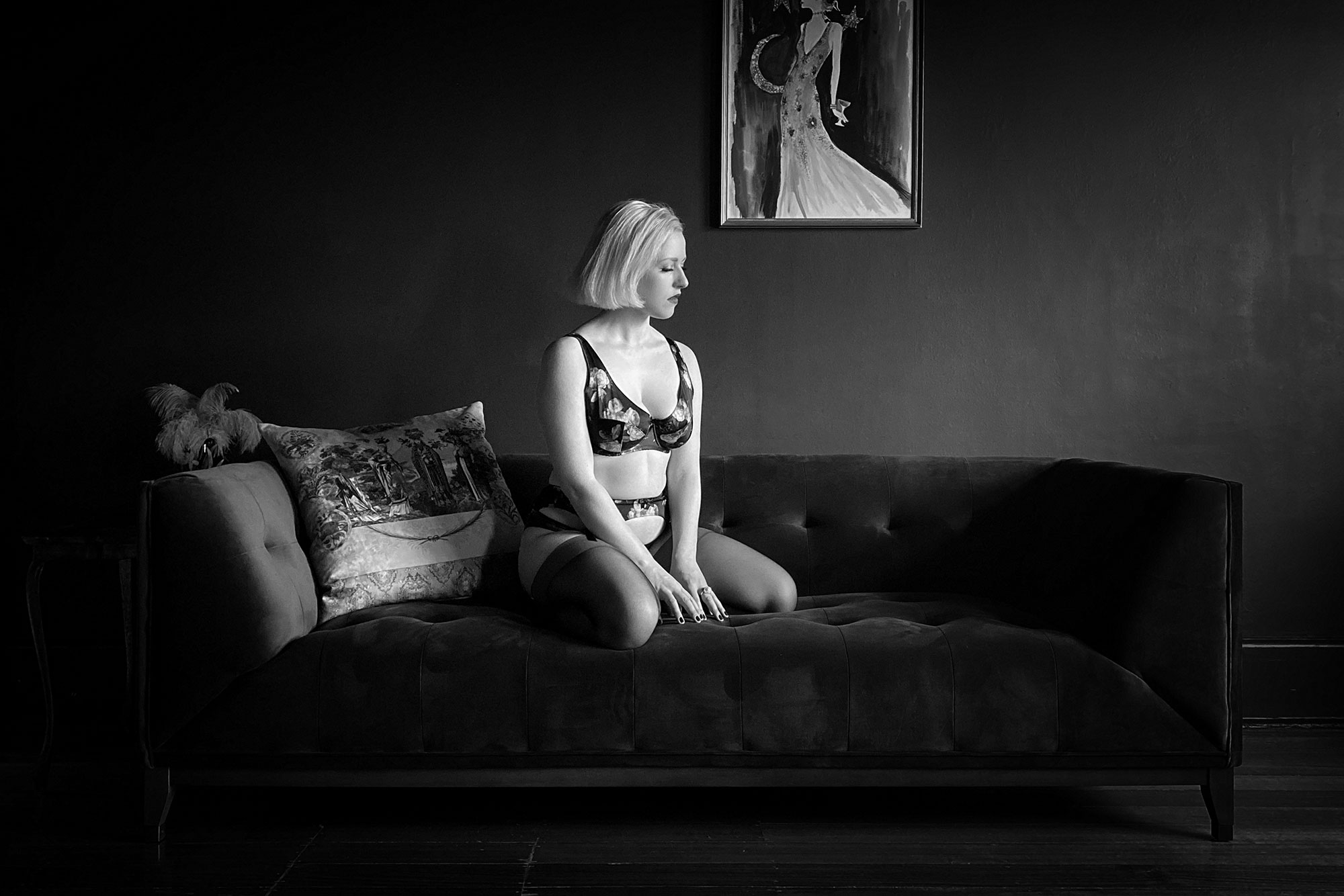 Charlotte Dallison's Virtual Boudoir Shoot with Tigz Rice