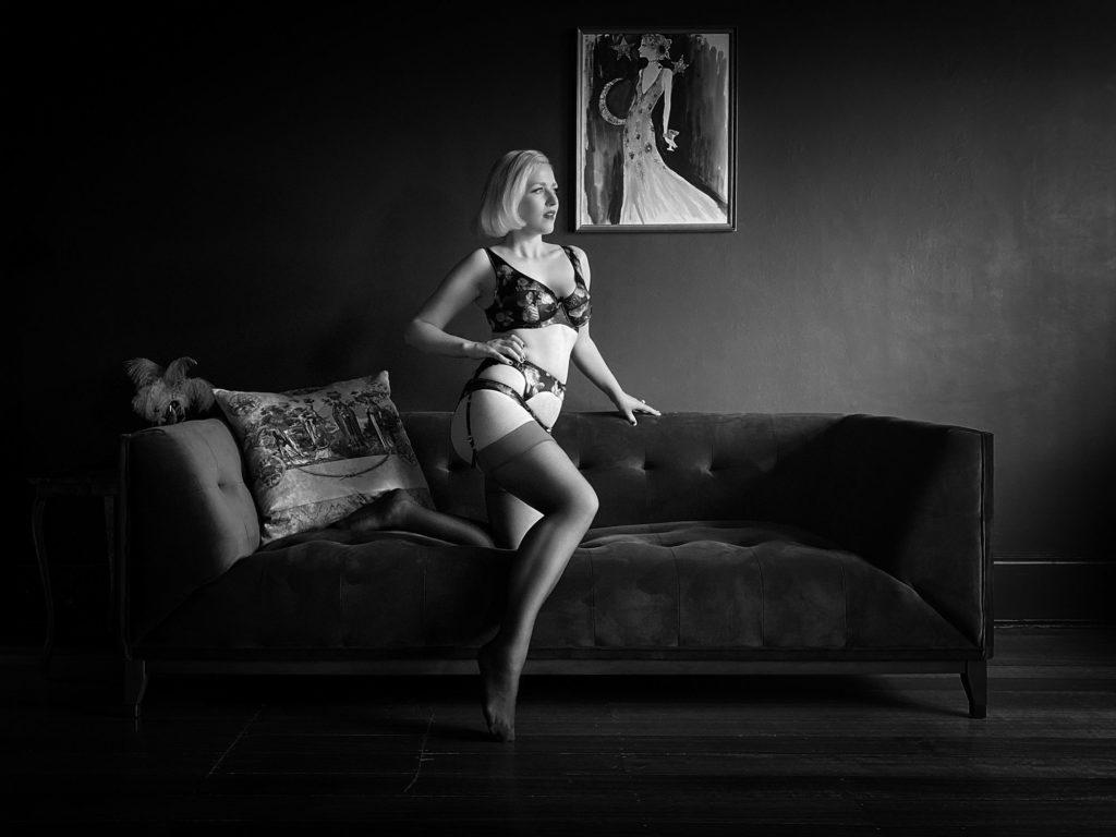 Charlotte Dallison's Virtual Boudoir Shoot with Tigz Rice