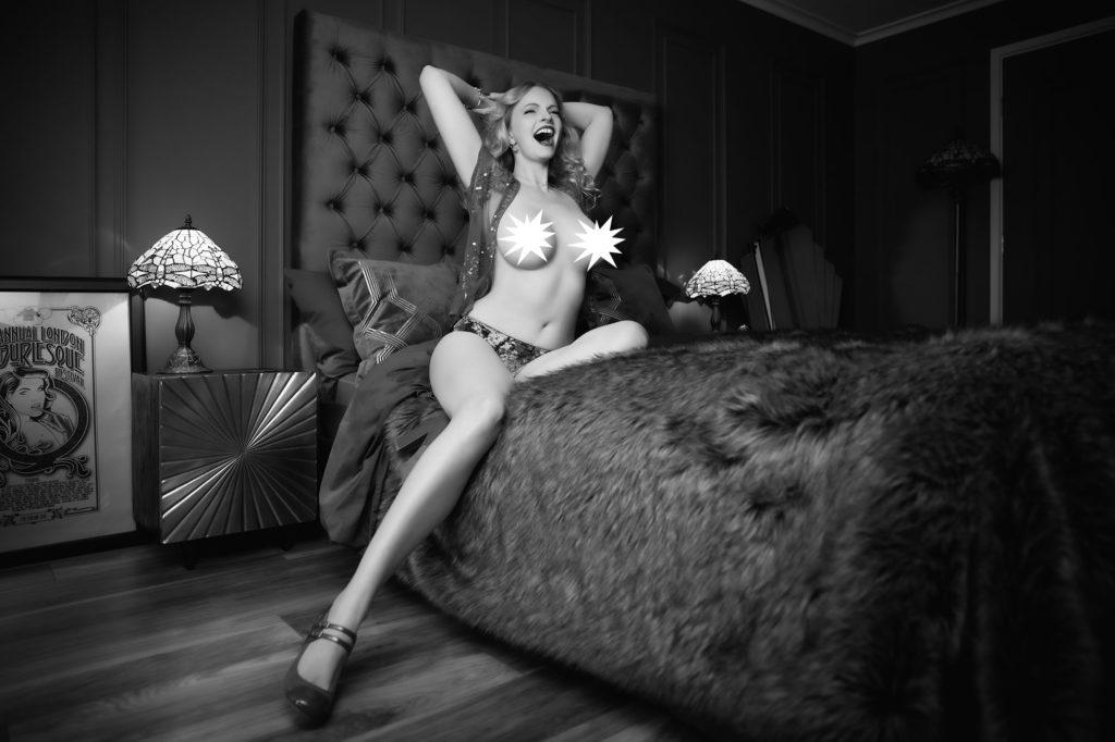 Christen William's Pre Double Mastectomy Boudoir Shoot © Tigz Rice Ltd