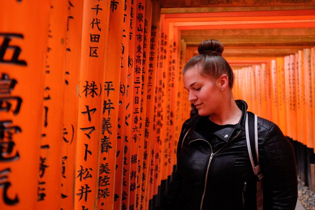 Tigz at Fushimi Inari Shrine, Kyoto 2019