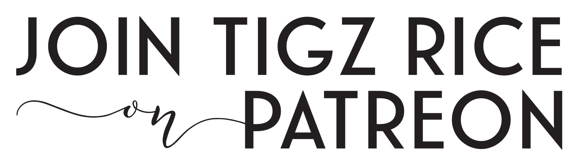 Logo Join Tigz Rice On Patreon for Behind The Scenes Boudoir Content