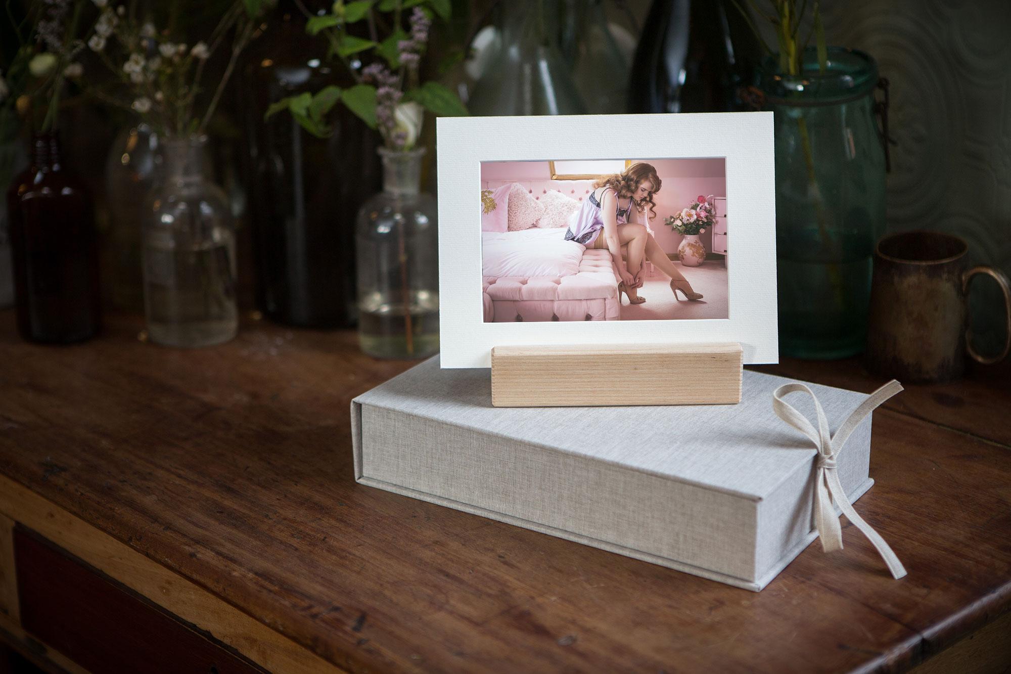 boudoir albums and fine art prints from UK Boudoir Photographer Tigz Rice