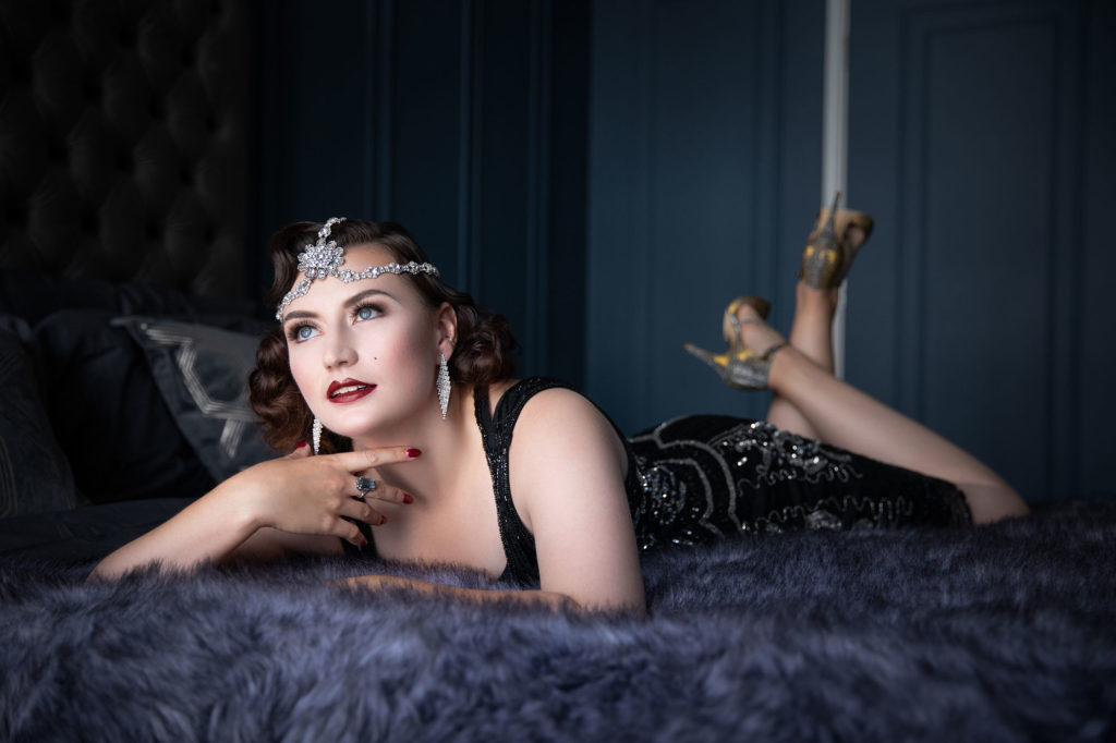 Jennifer Christine boudoir shoot with Tigz Rice