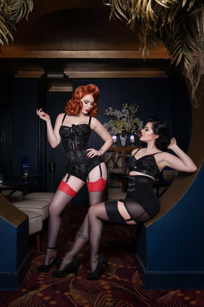 Emmerald Barwise and Katy Croft wear What Katie Did at Fontaine's © Tigz Rice Studios 2018. https://www.tigzrice.com