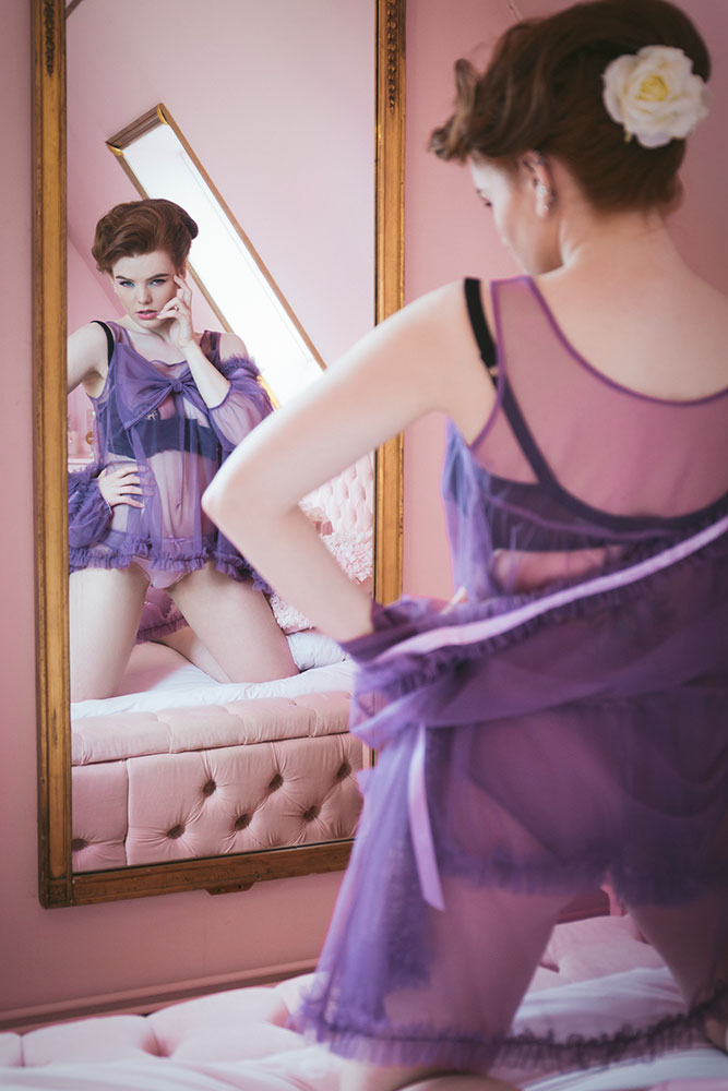 betty blue's loungerie SS16 editorial lingerie couture
