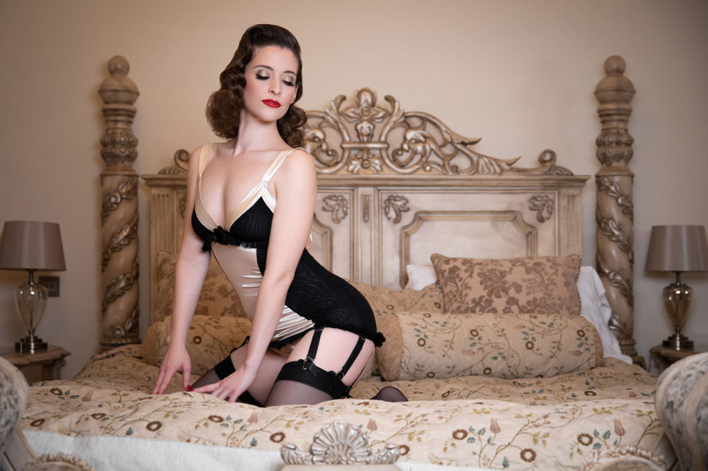 Ava L'amour Vintage Boudoir Makeover Shoot at Berwick Lodge. Hair and Make Up by Miss Victory Violet