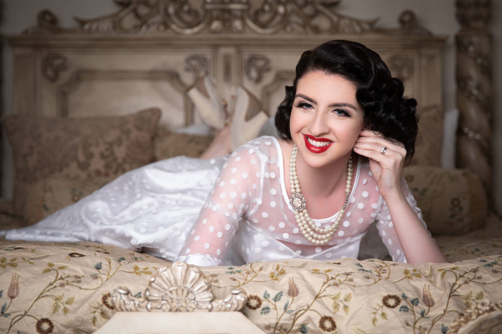 Hollie Rowley Bridal Boudoir Makeover Shoot with Hair and Make Up by Miss Victory Violet