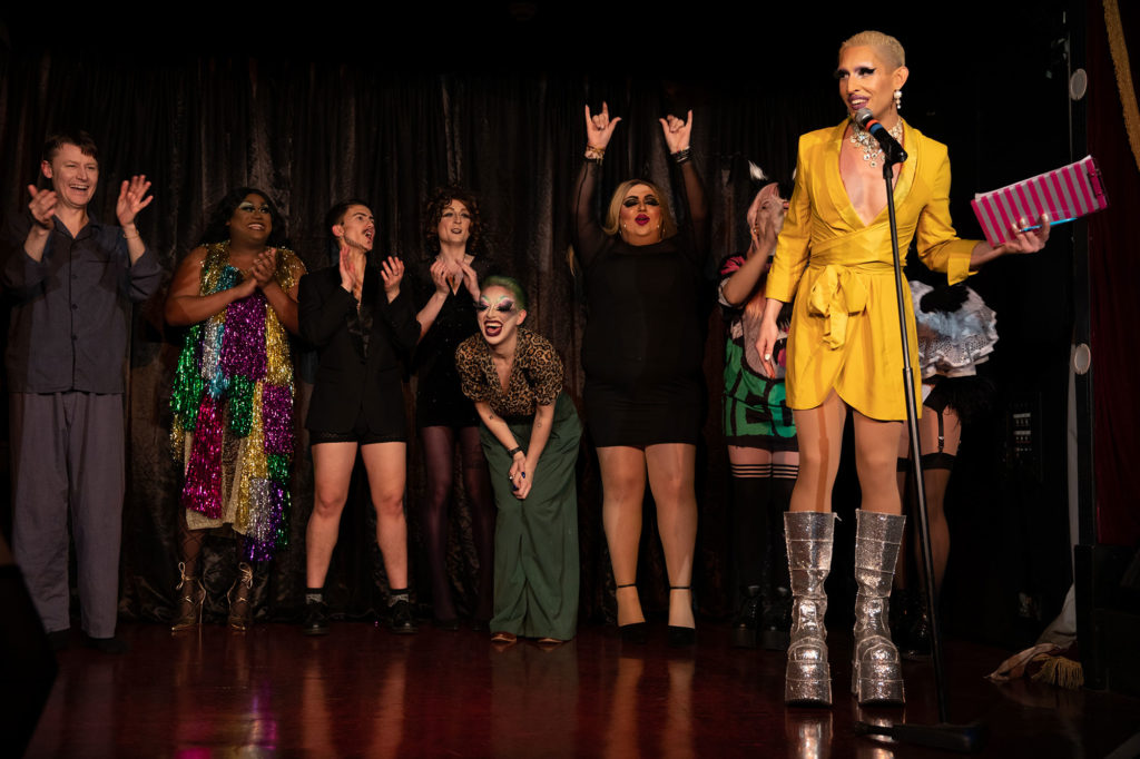 Cabaret Roulette Cast © Tigz Rice Ltd 2020.
