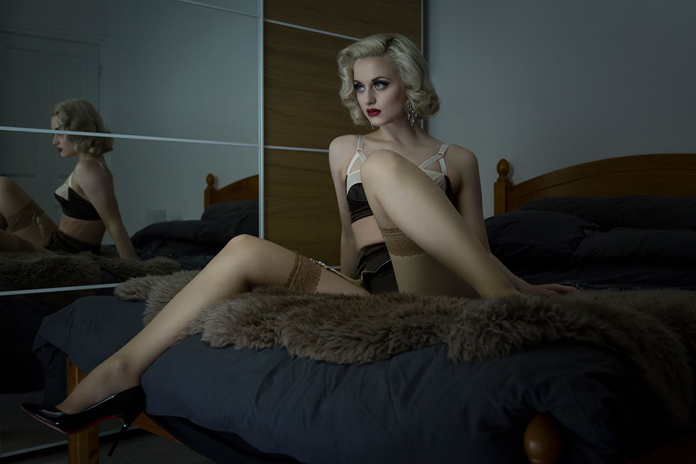 An Editorial Boudoir Shoot with Didi Derriere
