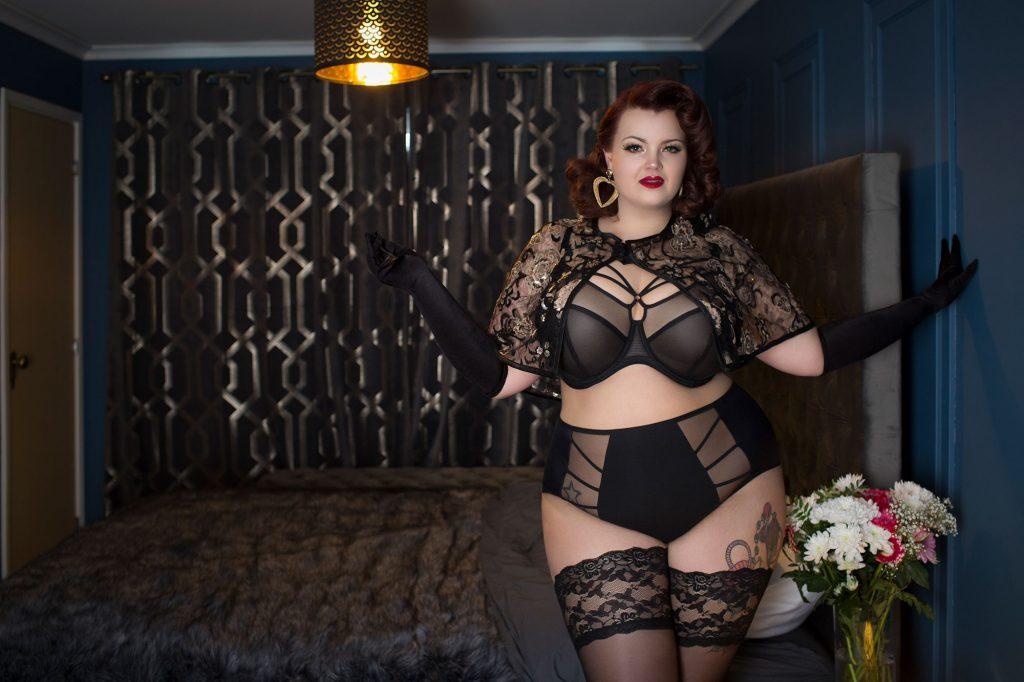 Plus Size Lingerie - Fuller Figure Fuller Bust Georgina Horne wears Elomi Lingerie