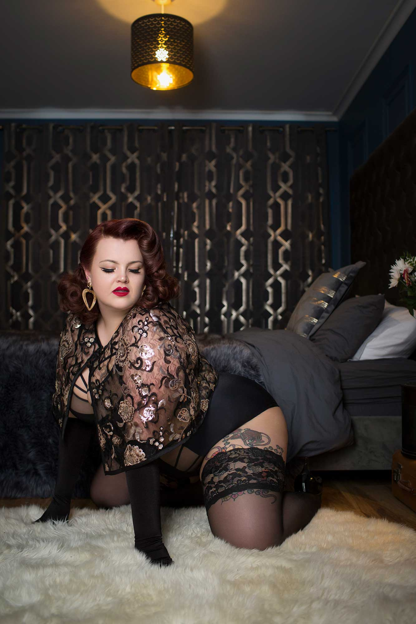 boudoir makeover photo shoot with Tigz Rice