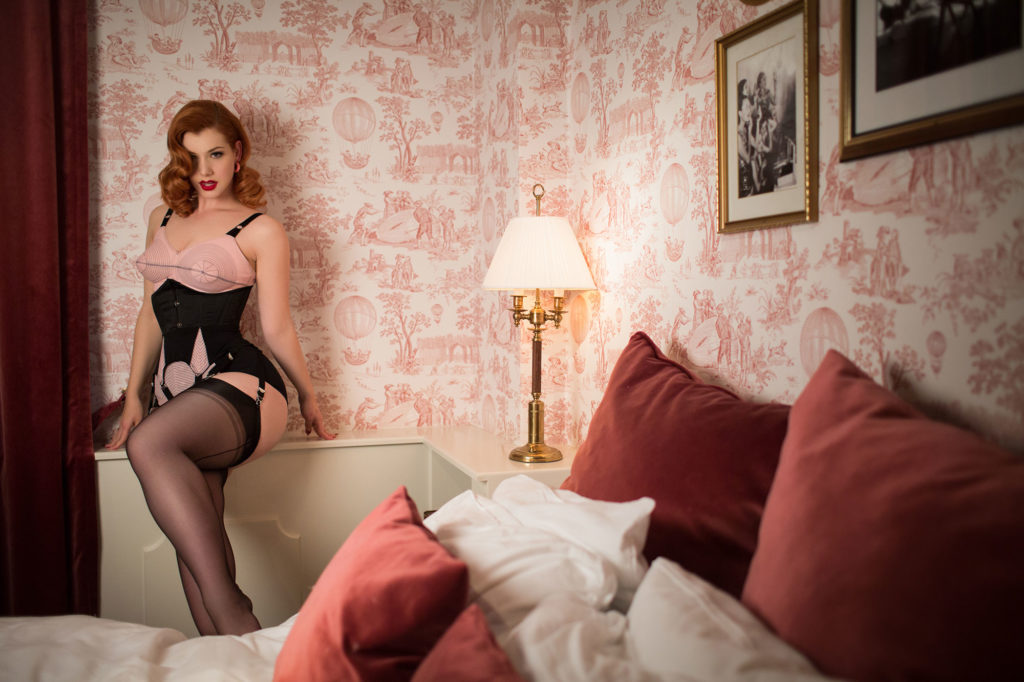 Miss Victory Violet wears What Katie Did at Hotel Pigalle © Uk Boudoir Photographer Tigz Rice 2018