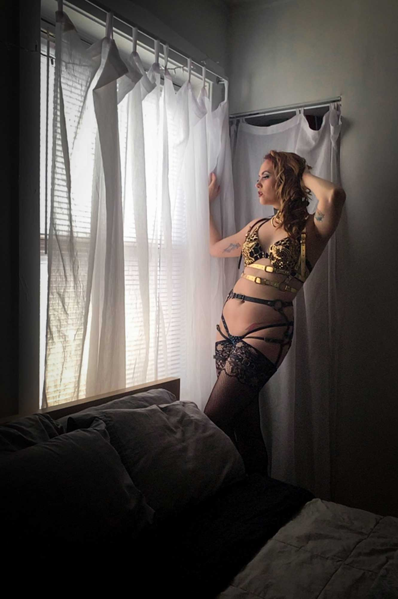 Penny Heartbleed's Virtual Boudoir Shoot © Tigz Rice Ltd 2020