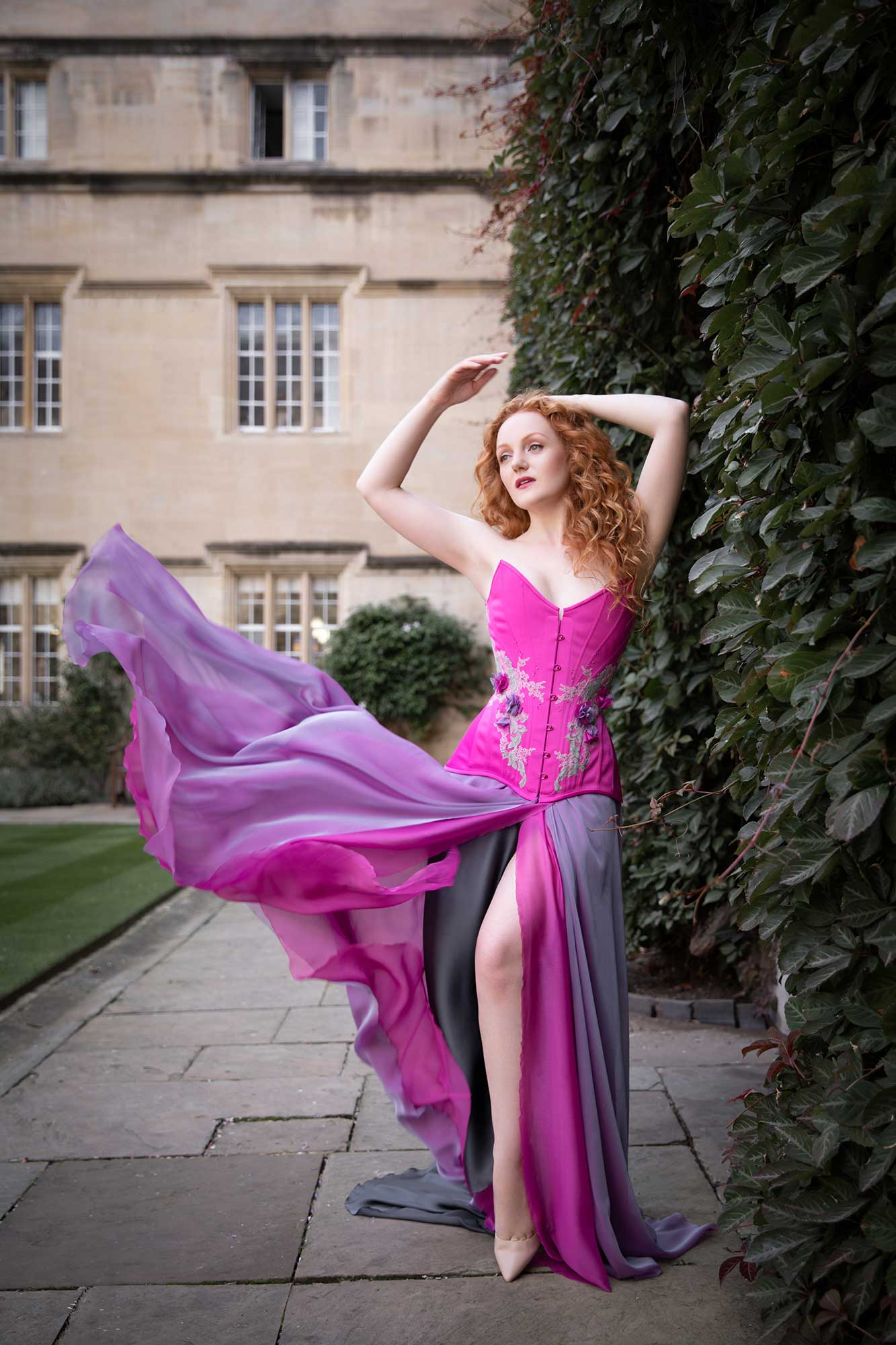 Outdoor Lingerie Shoot at Oxford Conference of Corsetry