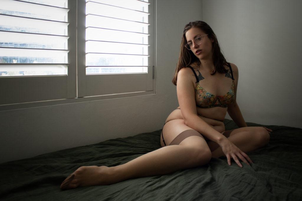 Lingerie By Day - Liz's Virtual Boudoir Shoot using a Canon DLSR with UK boudoir Photographer Tigz Rice