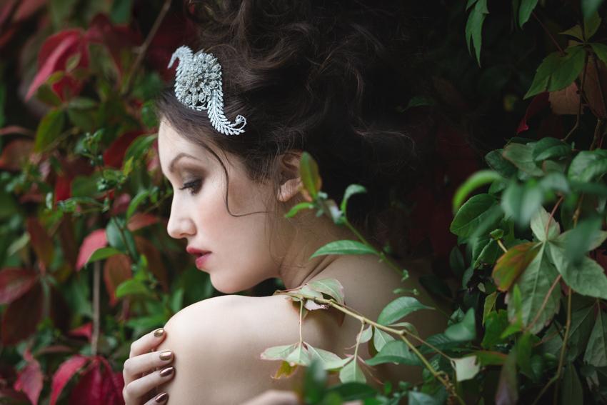 Snow White Fairytale Fashion Couture hair accessories | Tigz Rice Studios